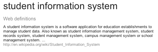 School Command is a Student Information System * SIS